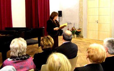 Projev velvyslankyně ČR paní Livie Klausové