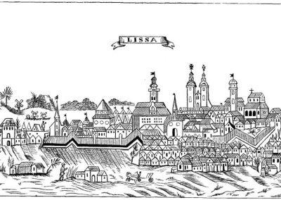 Lešno na vedutě z roku 1775