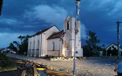 Tornádo na Hodonínsku způsobilo velké škody